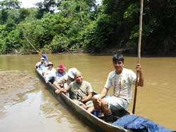 Tapir Lodge - Canoe ride